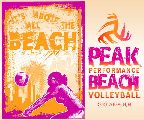 Peak Beach Volleyball Branding